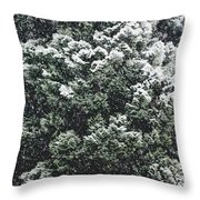 Winter Bush Throw Pillow