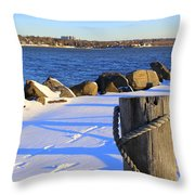 Winter By The Bay Throw Pillow