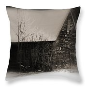 Winter Cabin Throw Pillow
