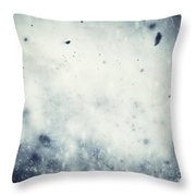 Winter Christmas Background Throw Pillow