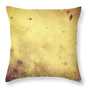 Winter Christmas Gold Vintage Background Throw Pillow