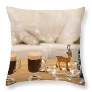 Winter Coffee Throw Pillow