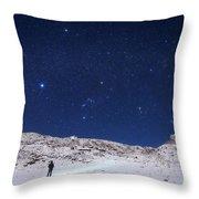 Winter Constellations Throw Pillow