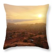 Winter Desert Glow Throw Pillow