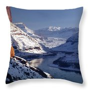 612702-winter Desert River, Ut Throw Pillow
