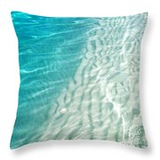 Winter Desire. Water Meditation. Five Elements. Healing With Feng Shui And Color Therapy In Interior Throw Pillow by Jenny Rainbow
