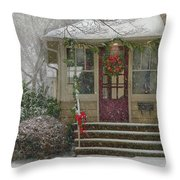 Winter - Dreaming Of A White Christmas Throw Pillow