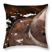 Winter Duty Throw Pillow