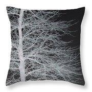 Winter Etching Throw Pillow
