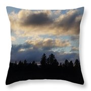 Winter Eve In The Applegate Valley Throw Pillow