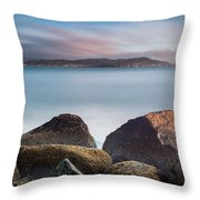 Winter Evening On Humboldt Bay Throw Pillow