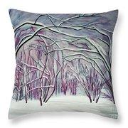 Winter Fairies Throw Pillow