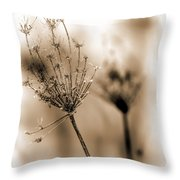 Winter Flowers II Throw Pillow