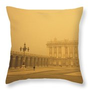 Winter Fog In Madrid Throw Pillow