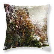 Winter Foliage Throw Pillow