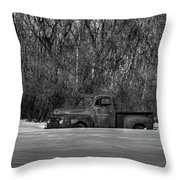 Winter Ford Truck 1 Throw Pillow by Thomas Young