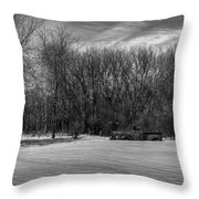 Winter Ford Truck 2 Throw Pillow
