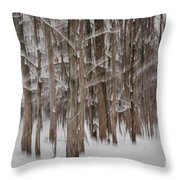 Winter Forest Abstract II Throw Pillow