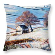 Winter Frost Throw Pillow by Tilly Willis