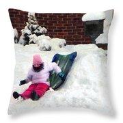 Winter Fun Throw Pillow