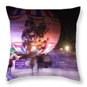 Winter Gardens Ice Rink And Balloon Bournemouth Throw Pillow