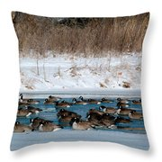 Winter Geese - 02 Throw Pillow