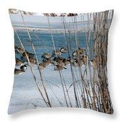 Winter Geese - 04 Throw Pillow
