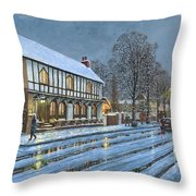 Winter Glow Parish Room Tickhill Yorkshire Throw Pillow