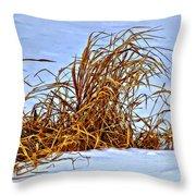 Winter Grasses II Throw Pillow