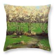 Winter Greens Throw Pillow