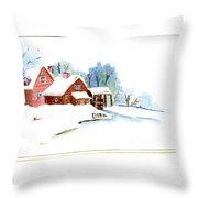 Winter Habitat Throw Pillow