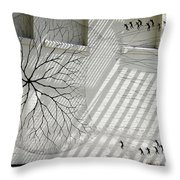 Winter Haven Abstract Throw Pillow
