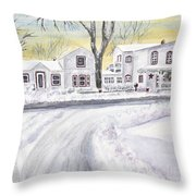 Winter Holidays In Dixboro Mi Throw Pillow