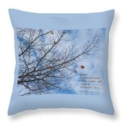 Winter Hope Throw Pillow