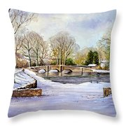 Winter In Ashford Throw Pillow by Andrew Read