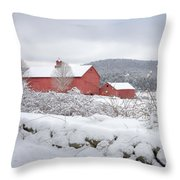Winter In Connecticut Square Throw Pillow