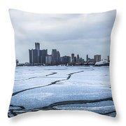Winter In Detroit  Throw Pillow