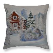 Winter In Finland Throw Pillow