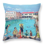 Winter In Florida Throw Pillow