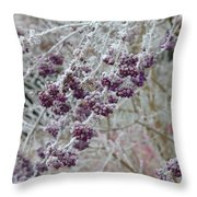 Winter In Lila Throw Pillow
