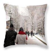 Winter In London Throw Pillow