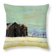 Winter In Montana Throw Pillow