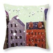 Winter In Nantucket Throw Pillow