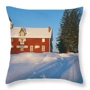 Winter In New England, Mountain View Throw Pillow