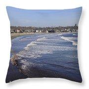 Winter In Newport Throw Pillow