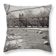 Winter In Pencil Throw Pillow