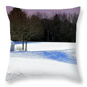 Winter In The Berkshires Throw Pillow