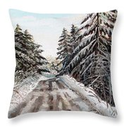 Winter In The Boons Throw Pillow by Shana Rowe Jackson