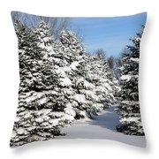 Winter In The Pines Throw Pillow