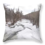 Winter In The Woods Throw Pillow